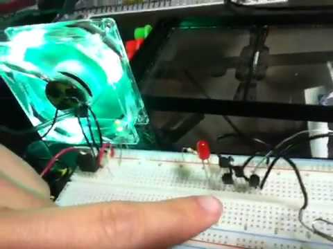 Electronics - Touch switch via Transistor