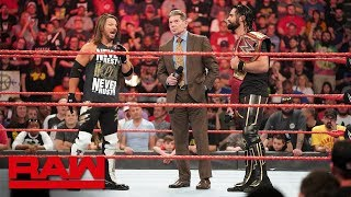 Mr. McMahon forces Seth Rollins and AJ Styles to team up: Raw, May 6, 2019