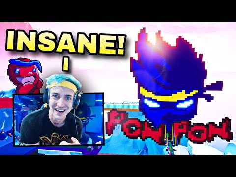 Download Ninja Reacts To Building Ninja Pixel Art In Fortnite