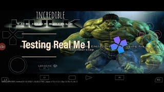 How To Download Incredible Hulk  On Android Testing Real Me 1 || HD Gameplay || (Hindi)