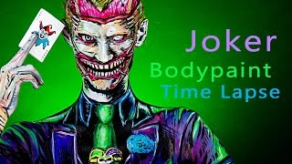 Joker Body Paint TimeLapse