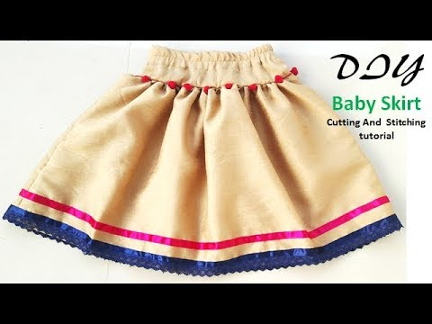 1eb265c7a425f6 DIY Baby Skirt Cutting And Stitching Full Tutorial - YouTube