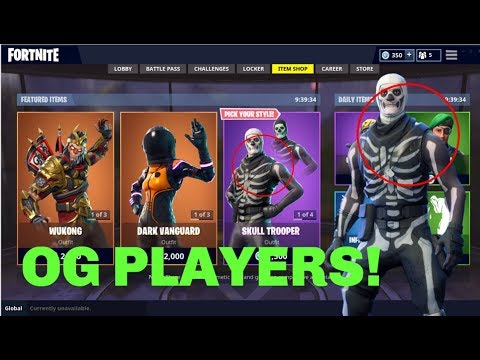They Add A Difference Between The Old Skull Trooper And The New One Fortnite Upcoming Skins