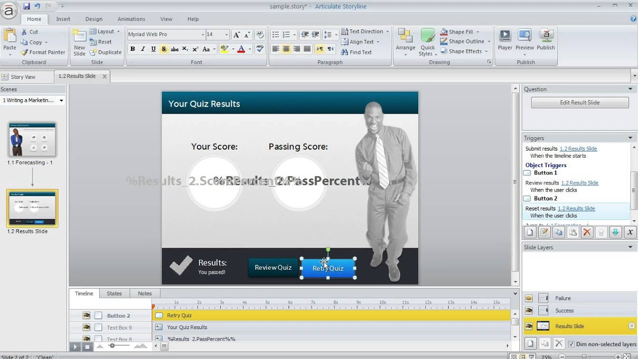 Articulate Storyline tutorial: How to manage the display of the ...