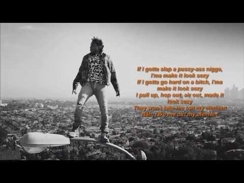Kendrick Lamar - ELEMENT (LYRICS VIDEO 1080p HD)