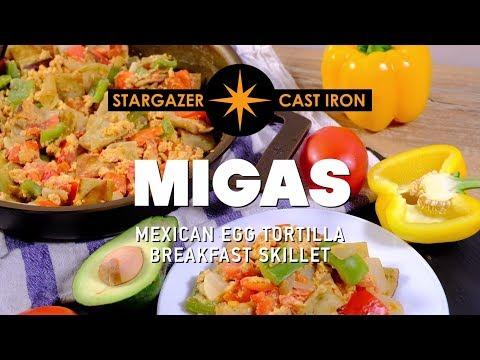 Migas - Mexican Egg Tortilla Breakfast Skillet