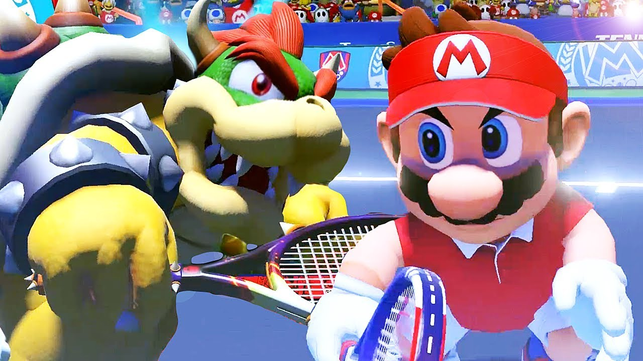 Mario Vs Bowser Ultimate Final Battle in Mario Tennis Aces Online Tournament + Unlocking Characters