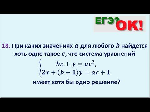 Система линейных уравнений с параметром. Задание 18 ЕГЭ по математике. (50)
