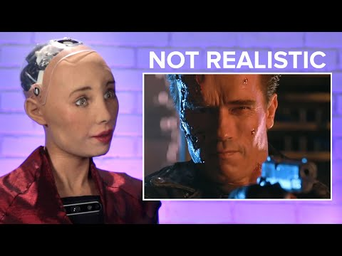 Sophia The Robot Reviews Robots From Pop Culture