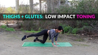 Low Impact Leg Burning Exercises | Thighs and Glutes Workout