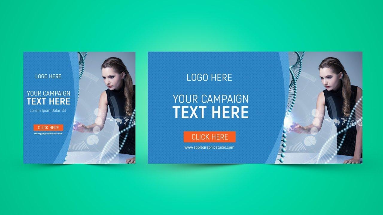 Facebook Banner Ads Design Photoshop Tutorial - YouTube
