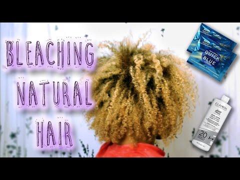 Part 1: Bleaching Natural Hair [Type 3c/4a]