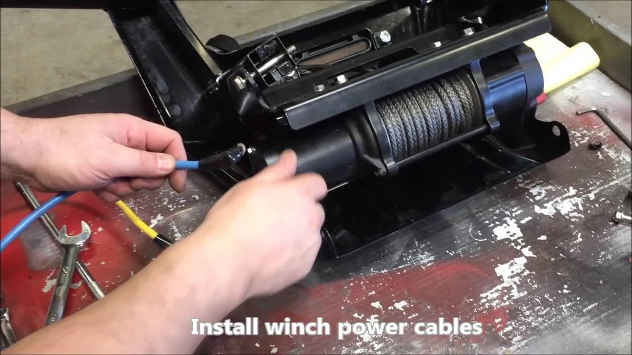 hight resolution of warn winch installation
