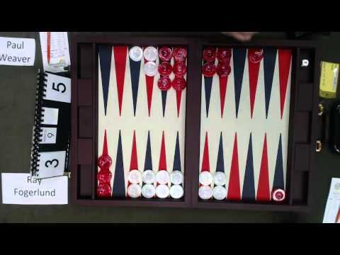 Carolina Backgammon R2 Paul Weaver v Ray Fogerlund