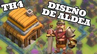 Clash of Clans | Diseño de Aldea Defensiva | Ayuntamiento 4/TH4 | Gana +21 copas
