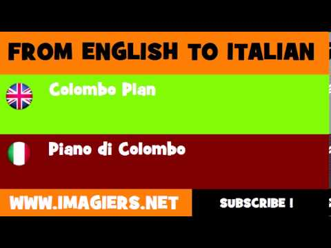How to say Colombo Plan in Italian