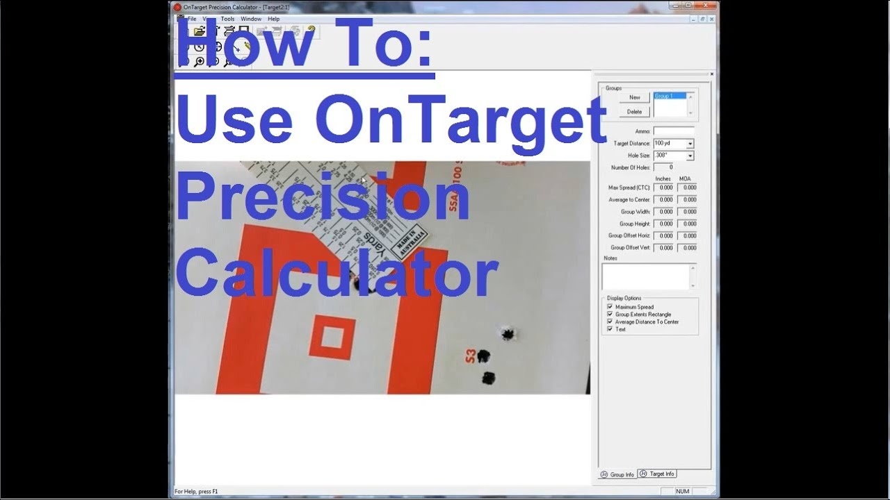 How To: Use OnTarget Precision Calculator