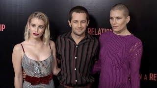 "Emma Roberts, Michael Angarano, Dree Hemingway ""In a Relationship"" Premiere Pink Carpet"