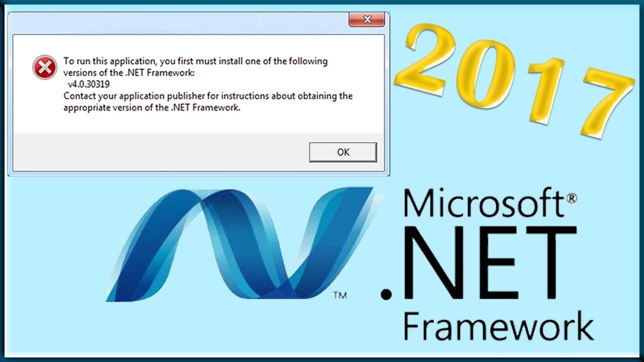 Como instalar Net Framework v4.0.30319 bien explicado 2017!!! - YouTube