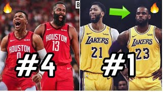 Ranking ALL 30 Duos in the NBA For the 2019-20 Season! | LeBron James & Los Angeles Lakers Are #1?
