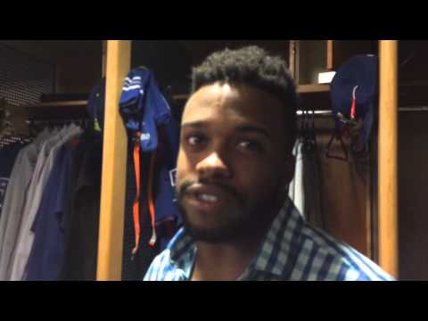 Rangers rookie Delino DeShields talks about his injury scare