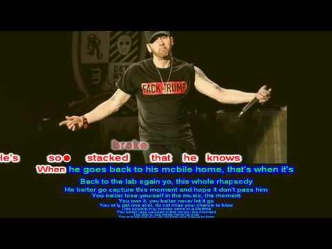 Lose Yourself - Eminem - Same-Language-Subtitling -Slides background