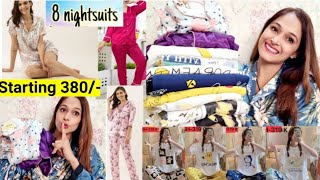 Affordable night Dresses/Night suit,Nighty haul/start rs 380/- only