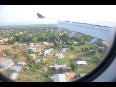 Landing at Lungi International Airport Sierra Leone A 330