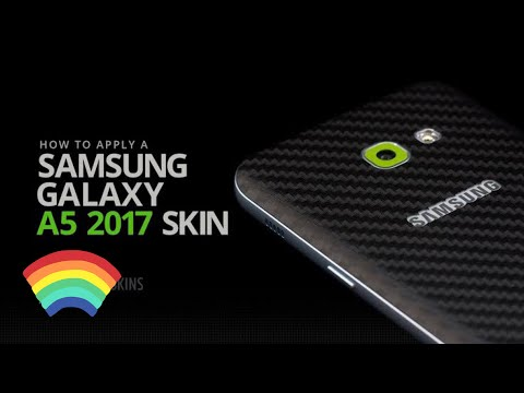 How To install Carbon Sticker Skin For Samsung Galaxy A5 2017