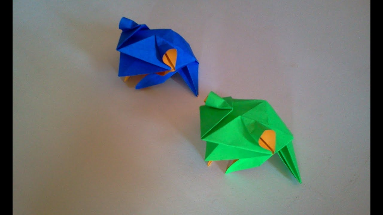 How to make origami frog youtube how to make origami frog jeuxipadfo Image collections