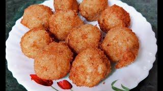 झटपट बनायें कुरकुरे आलू बॉल्स | Crispy Fried Potato Balls | Potato Lolipop Recipe in Hindi