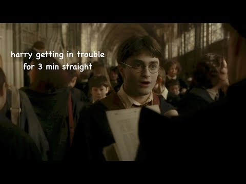 harry potter getting in trouble for 3 minutes straight