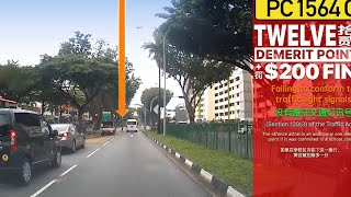 14oct2018 Toyota Hiace Hiroof #PC1564C, ignoring and beatinf red light @ Yishun Ave 5