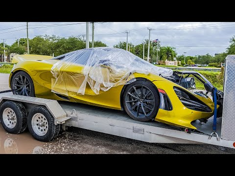 I Bought a SMASHED Mclaren 720s ( IS IT FIXABLE ) – Episode 1