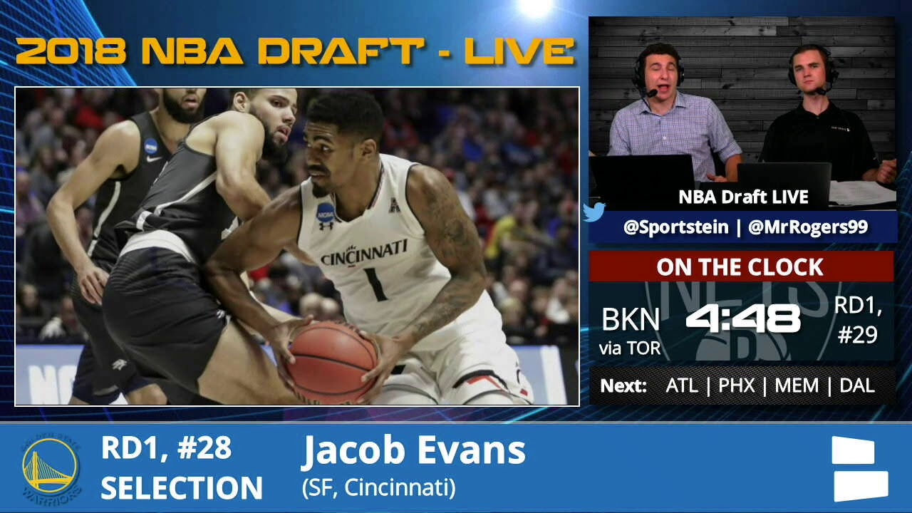e0bb0083a72 Golden State Warriors Select Jacob Evans With Pick  28 In 1st Round Of 2018  NBA Draft