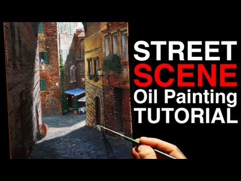 How to paint with PERSPECTIVE | Siena Street Scene | Oil Pai