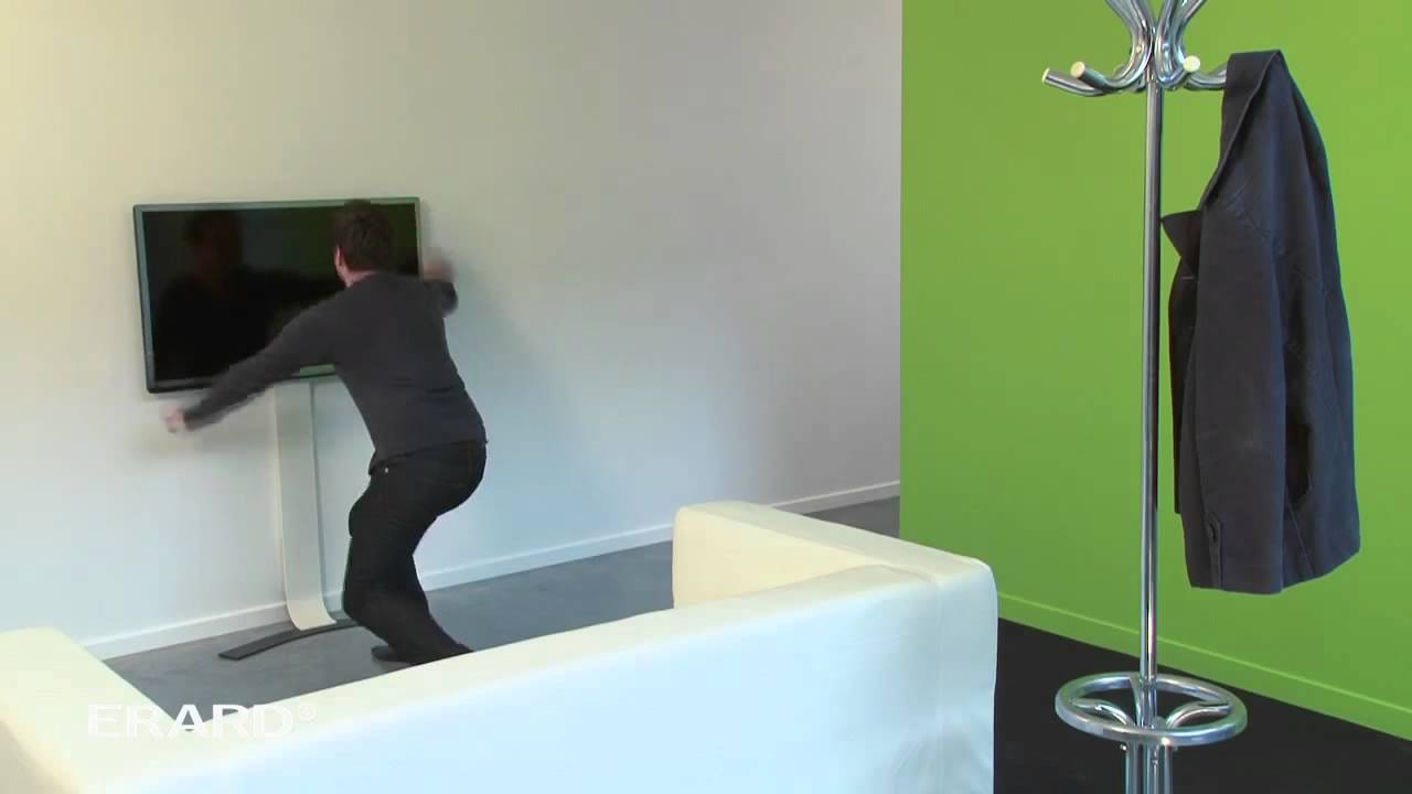 un support tv mural sans percer : erard standit - youtube