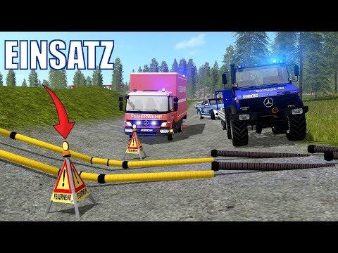 LS17 - Aufräumarbeiten nach THW + Feuerwehr Einsatz