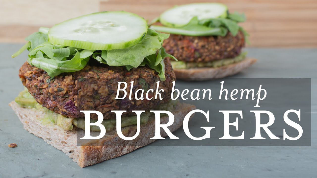 Black Bean Hemp Burgers