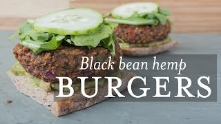 Black Bean Hemp Burgers