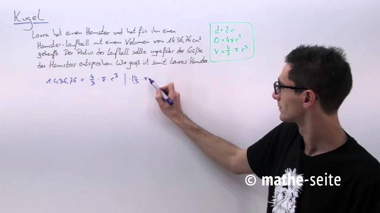 kugel berechnen: kugelvolumen, kugeloberfläche, halbkugel