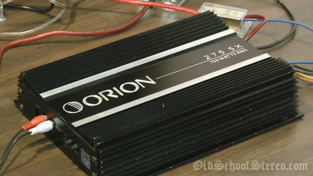 medium resolution of orion 275sx rms power output bench test old school 75x2 car amplifier youtube