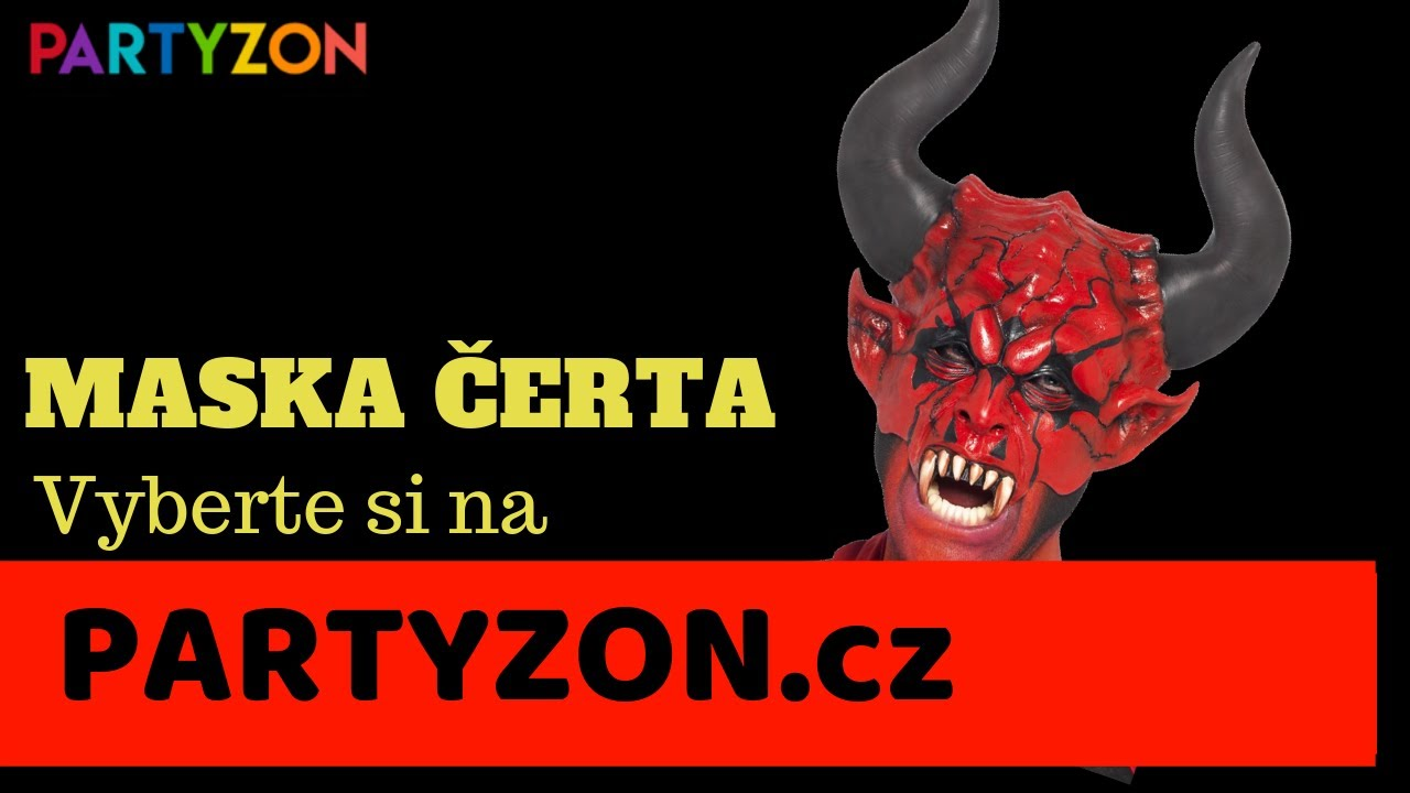 Maska čerta levně - strašidelné masky a kostýmy čertů na PARTYZON.cz ... 7d730bccd3