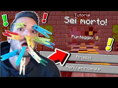 CHALLENGE: MOLLETTE IN FACCIA QUANDO MUOIO - Minecraft ITA