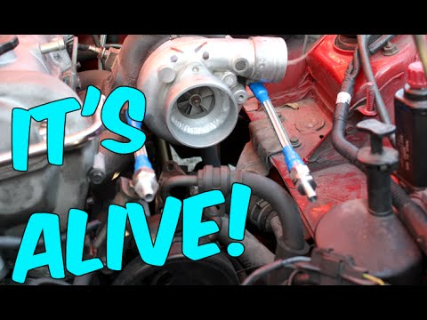 The Turbo Lives!!! Oil & Water Line Install (Broke & Boosted Ep12)