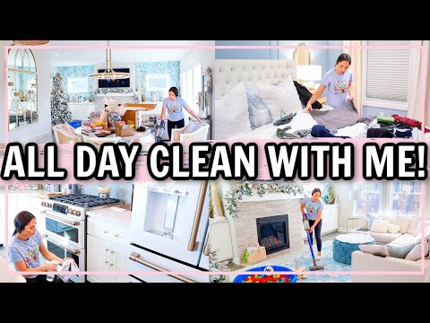 NEW ALL DAY CLEAN WITH ME! ULTIMATE CLEANING MOTIVATION!   Alexandra Beuter