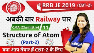 11:30 PM - RRB JE 2019 (CBT-2) | CMA (Chemistry) by Shipra Ma'am | Structure of Atom