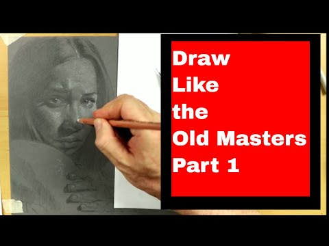 How to Draw the Portrait Live Drawing Realist Free Art Lesson 2018