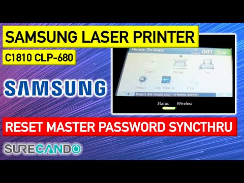 Samsung Laser Printer How to Reset Password Master Reset SyncThru Web Service