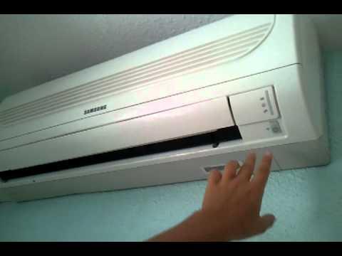 Como encender el aire acondicionado youtube for Temperatura de salida de aire acondicionado split